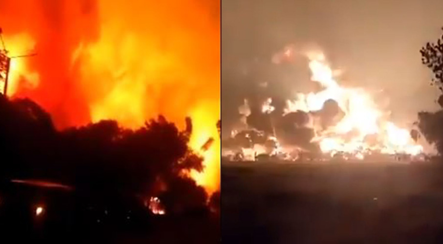 Homes evacuated after massive explosion, fireball obliterates Indonesian  oil refinery - NZ Herald