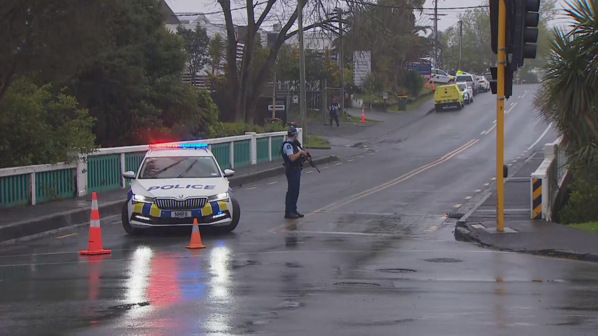 Police surround Head Hunters' West Auckland property after reported shooting