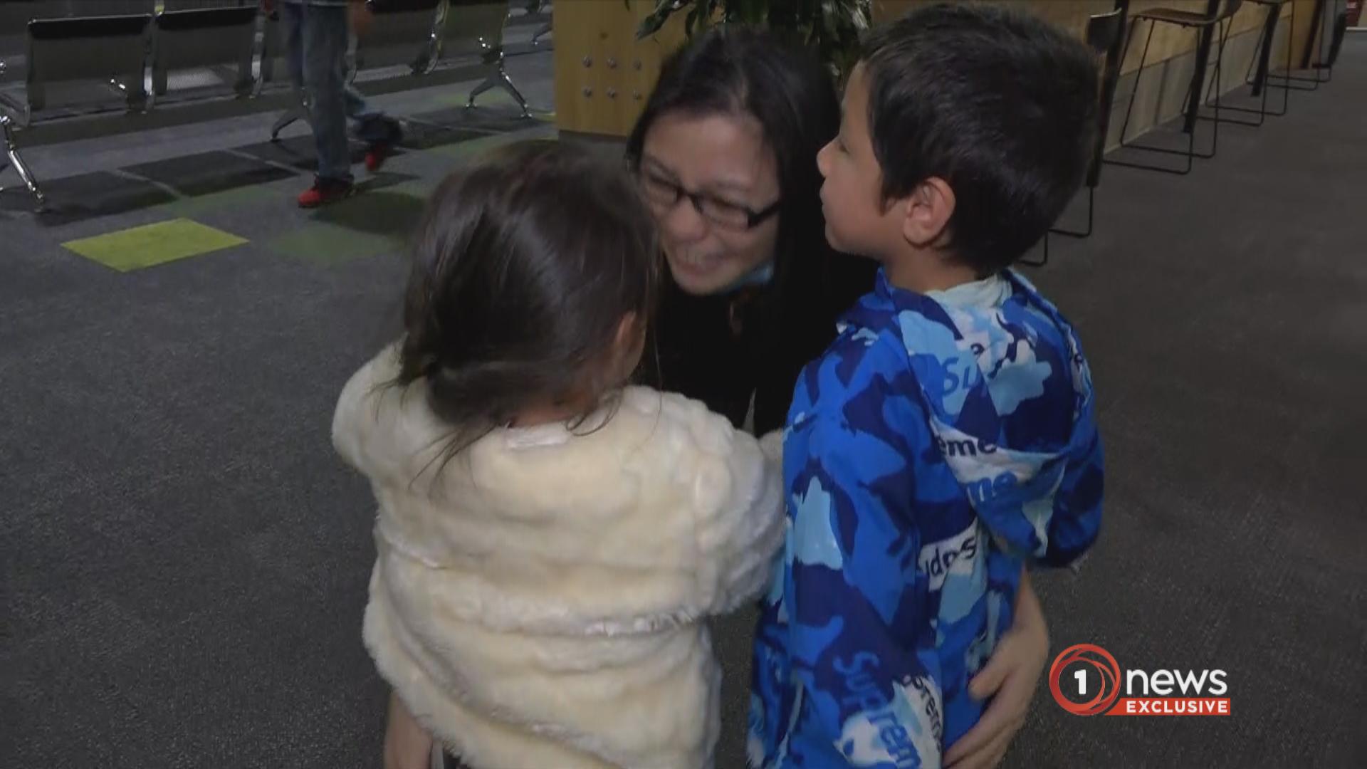 Tauranga mum reunites with children after nearly 2 years stuck in Malaysia